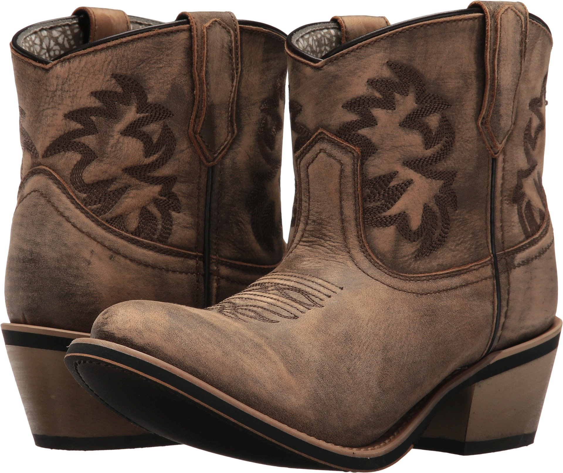 Laredo Western Boots Womens Sapphyre Round Composition 6.5 M Tan 51028