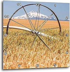 3dRose Wheatfield, Mt. Jefferson in The Background, Eastern Oregon - Wall Clocks (DPP_332043_2)