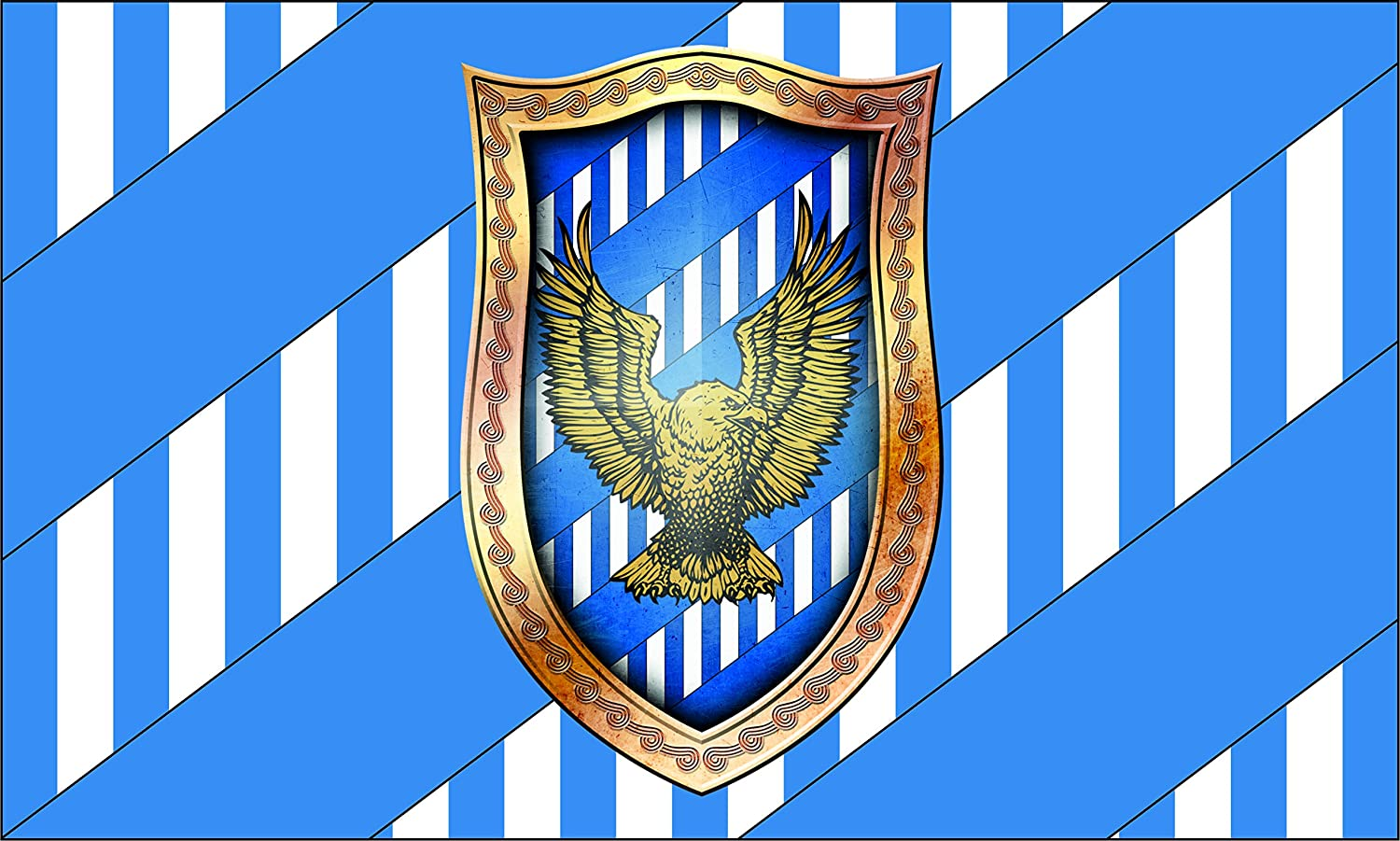 Amazon.com: Harry Potter Bandera | Ravenclaw Paisaje Bandera ...