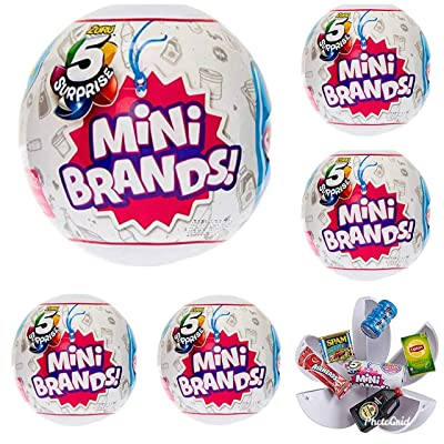5-Surprise Mini Brands Collectible Capsule Ball by Zuru - 6 Ball Bundle: Toys & Games