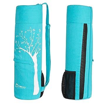 Yoga Mat Bolsa – Se adapta hasta 25 en Mat, grandes bolsillos, habitación para