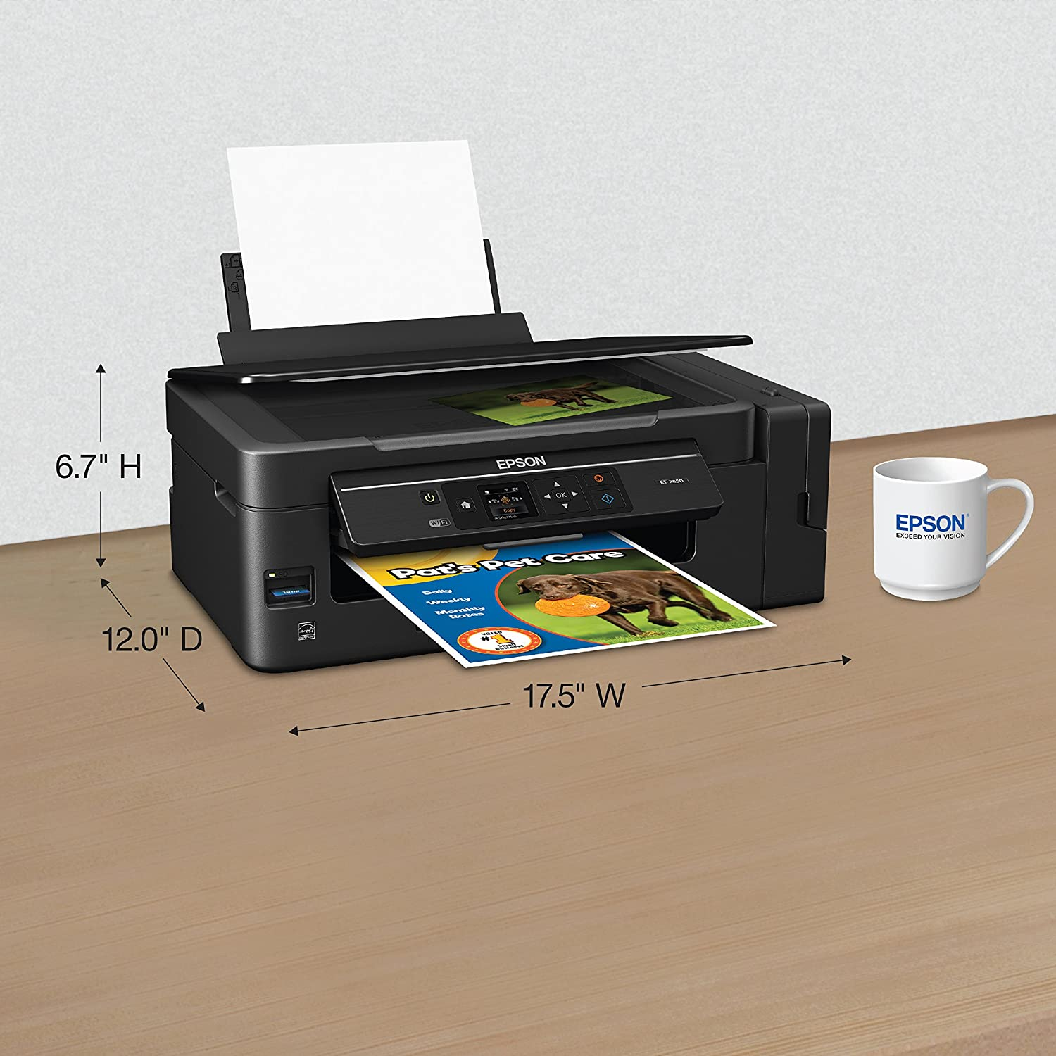 Amazon.com: Epson Expression ET-2650 EcoTank Wireless Color All-in-One  Small Business Supertank Printer with Scanner and Copier: Electronics