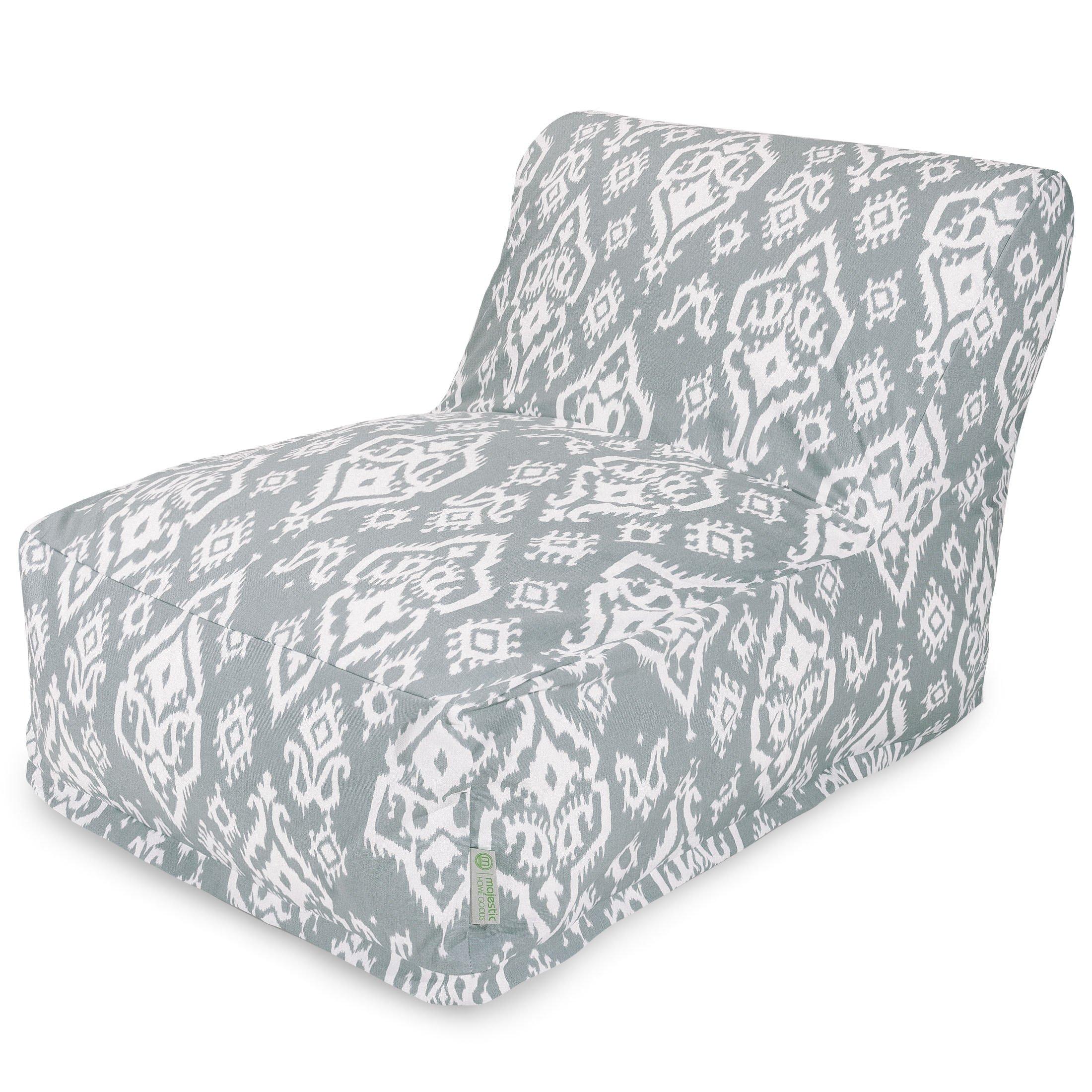 Majestic Home Goods Raja Bean Bag Chair Lounger, Gray