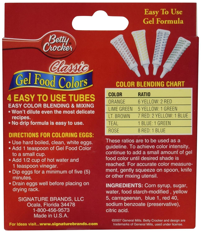 Amazon.com : Betty Crocker Food 4color Gel Clssc : Grocery ...