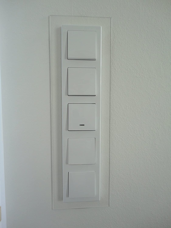 apto para todos los interruptores disponibles marco decorativo Paneles para interruptor efecto de cristal lacado GEA