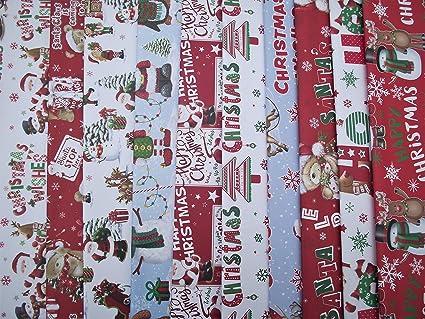 4 x 10 m de papel de regalo rollos ni/ños mu/ñeco//Santa//ping/üino//reno