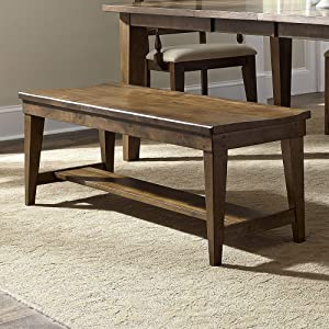 Liberty Furniture Industries Hearthstone Bench, W52 x D16 x H18, Dark Brown