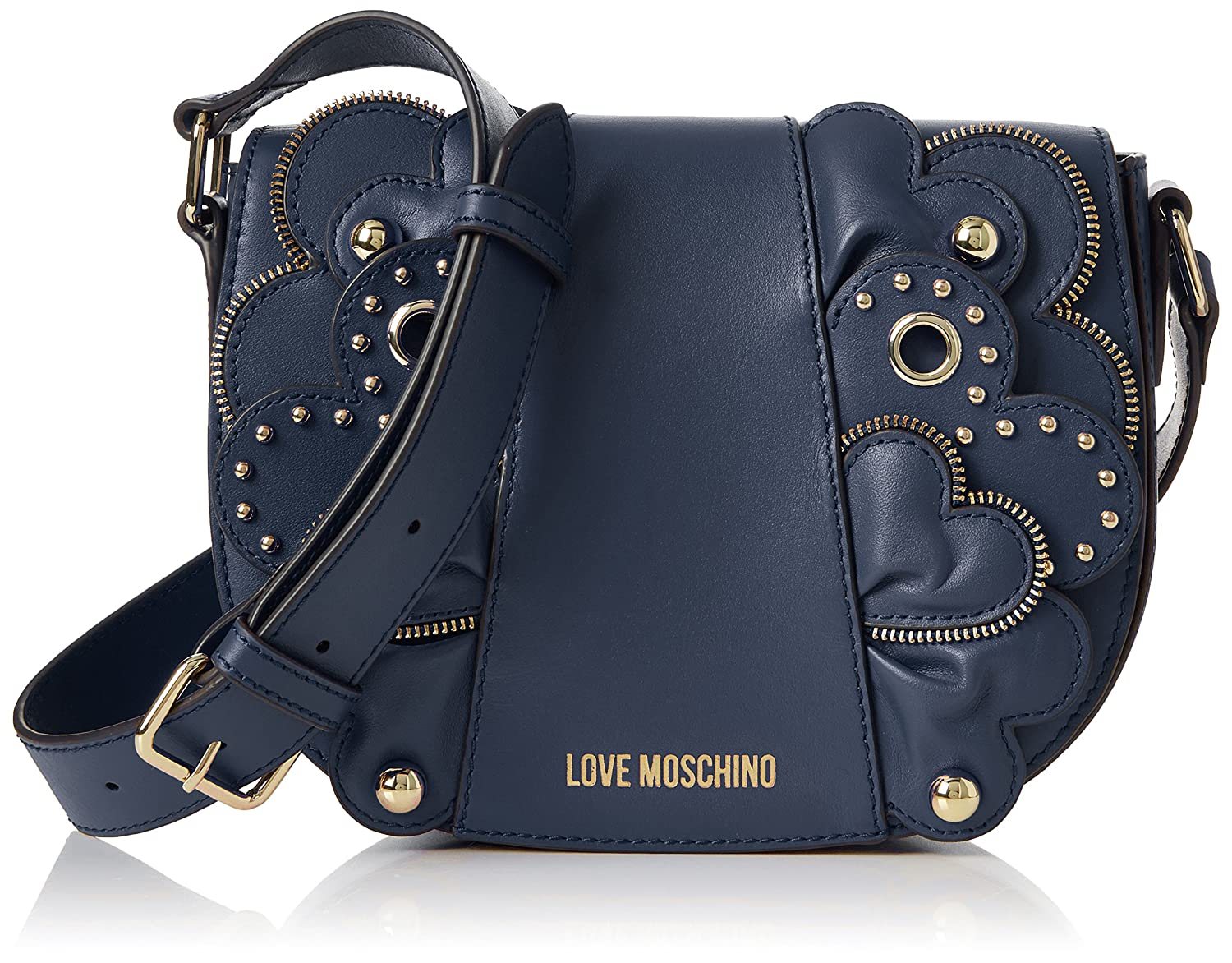 Love Moschino Borsa Vitello Smooth Blu, Women'S Baguette