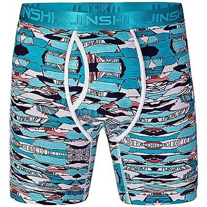 JINSHI Herren Boxershorts Lang Unterhose Bunt Retroshorts: Amazon.de:  Bekleidung