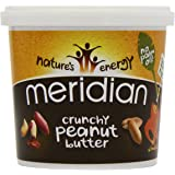 Meridian Amazon Crunchy Peanut Butter 100 Percent Nuts 1 kg (Pack of 2)