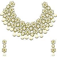 Zaveri Pearls Jewellery Set for Women (White)(ZPFK4300)