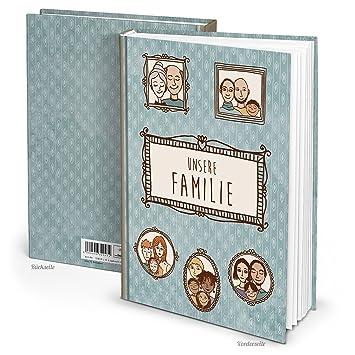 XXL azul marrón Familia libro Historias de nuestra familia – Escribir en blanco libro Cuaderno vacías