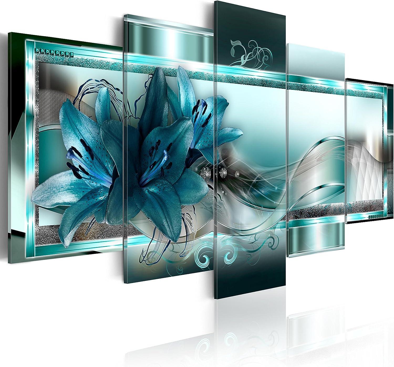 murando - Cuadro de Cristal acrílico Flores Lirios 200x100 cm - Cuadro de acrílico - Metacrilato - Impresion en Calidad fotografica - Abstracto b-C-0153-k-n