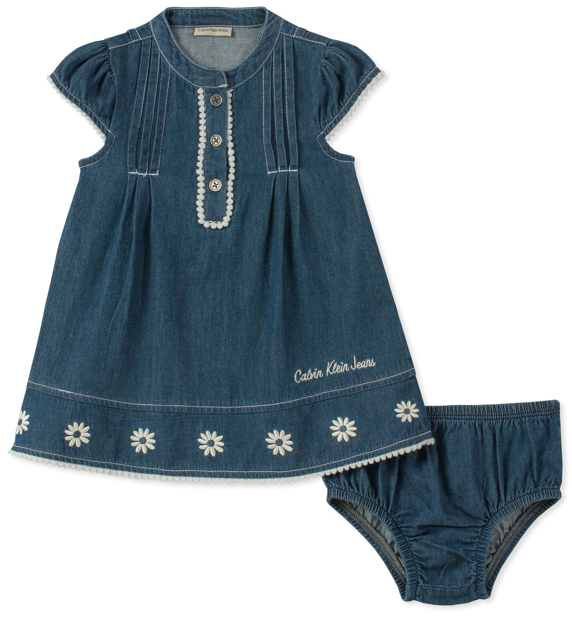 Calvin Klein Baby Girls Dress with Panty Set, Dark