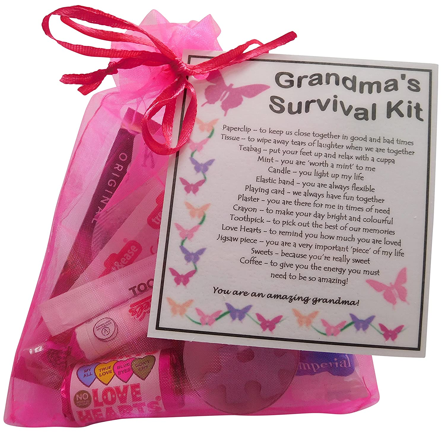 Large Linen Grandma Sewing Kit Case Bag Pouch Birthday Gift Present