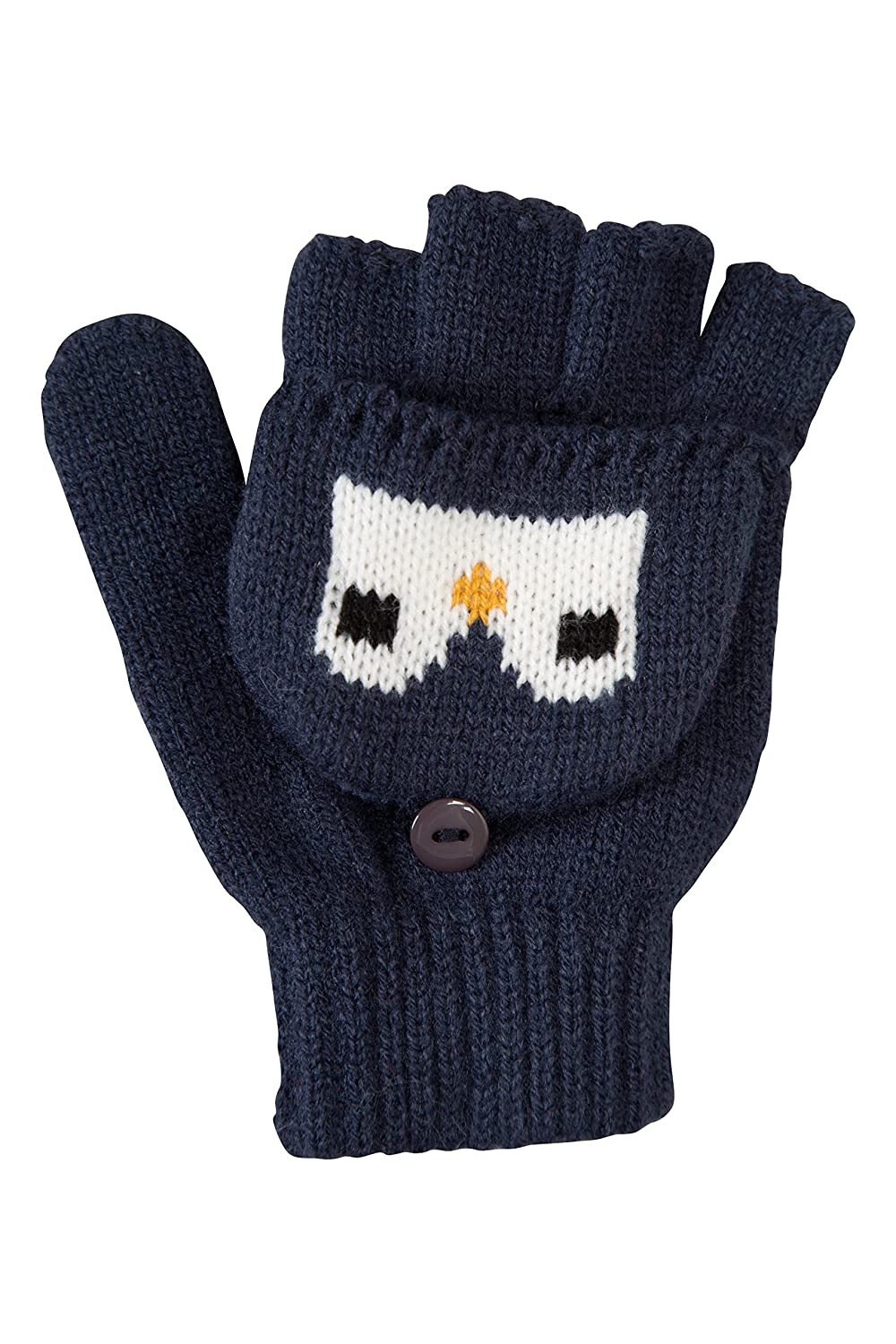 Mountain Warehouse Penguin Knitted Kids Glove - Warm, Lightweight, Knitted & Elasticised Band, Stretches for a Comfortable Fit - Great when out & about