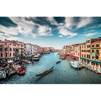 Jigsaw Puzzle 500 Pieces for Adults, City of Water Venice Italy Landscape Building Pattern Adult Children Puzzle Kids Intellective Educational Toy: Toys & Games
