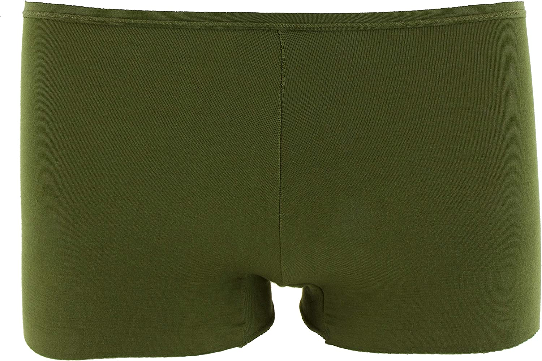 Kickee Pants Womens Solid Boy Short Underwear Pesto - M