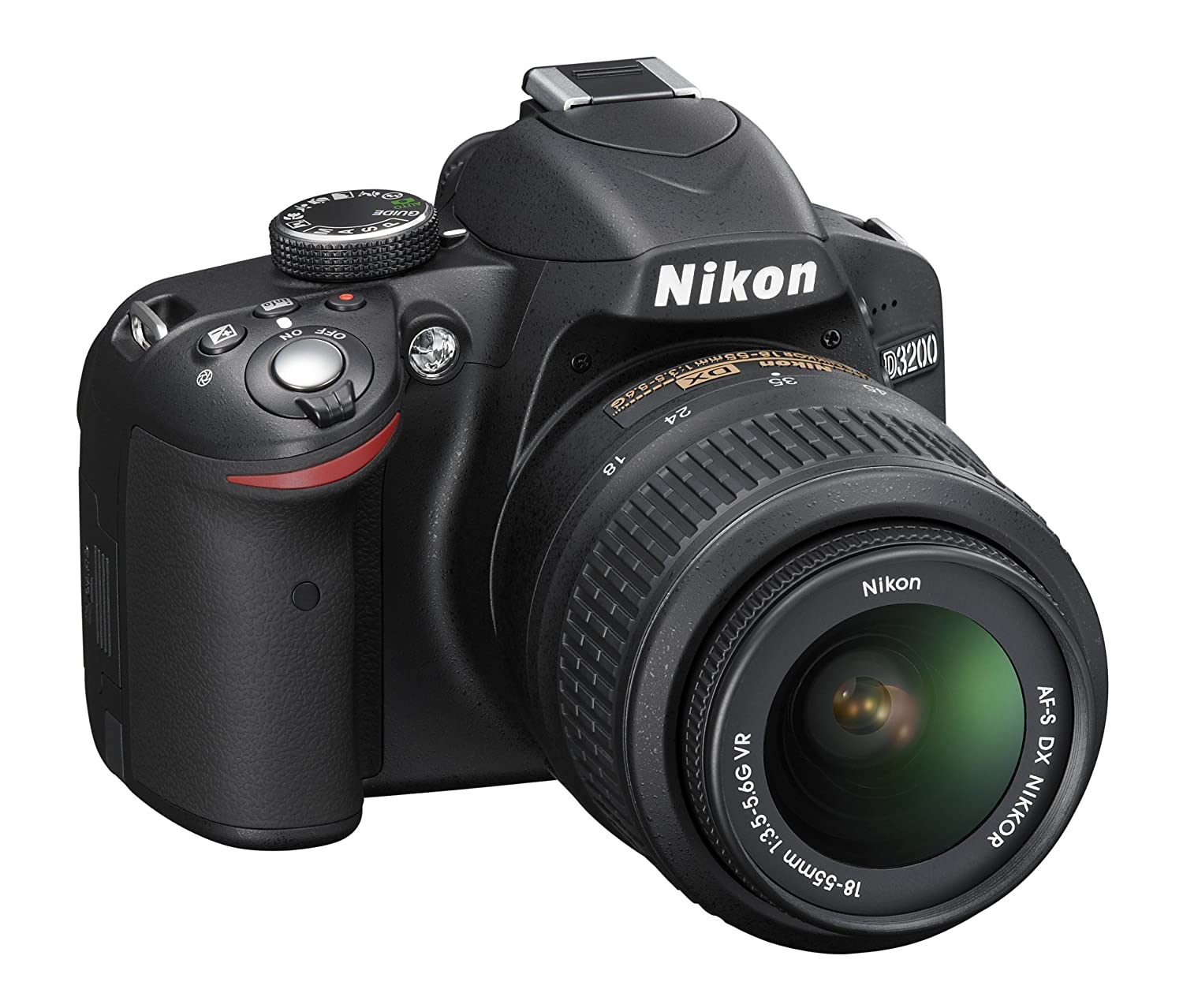 Amazon.com : Nikon D3200 24.2 MP CMOS Digital SLR with 18-55mm f ...