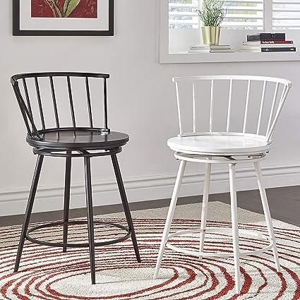 Admirable Amazon Com Inspire Q Olix Windsor Swivel Counter Stools Pdpeps Interior Chair Design Pdpepsorg