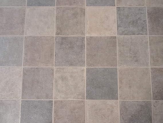 PVC Bodenbelag in warmen Fliesenfarben Zuschnitt 4m breit, 1,5m lang 9,95/€//m/²