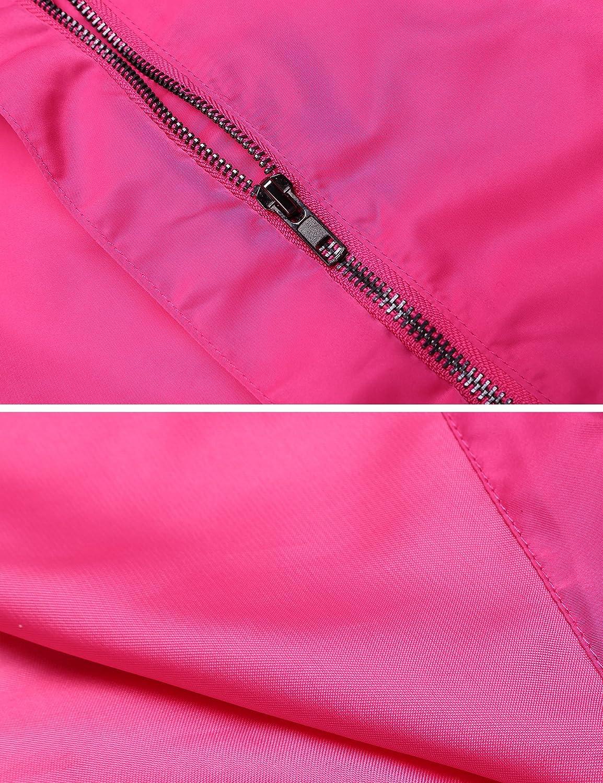 EASTHER Womens Waterproof Raincoat Lightweight Hooded Rain Jacket Windbreaker