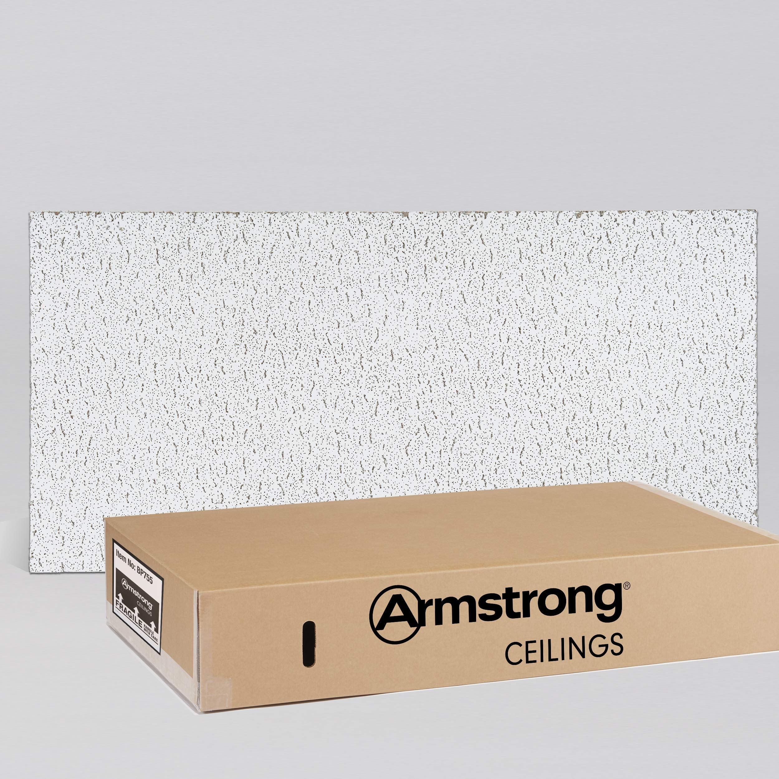 Armstrong Ceiling Tile; 2x4 Ceiling Tiles - Acoustic Ceilings for Suspended Ceiling Grid; Quality Drop Ceilings Direct from the Manufacturer; FISSURED Item 755 - 12 pcs Lay-in by Armstrong