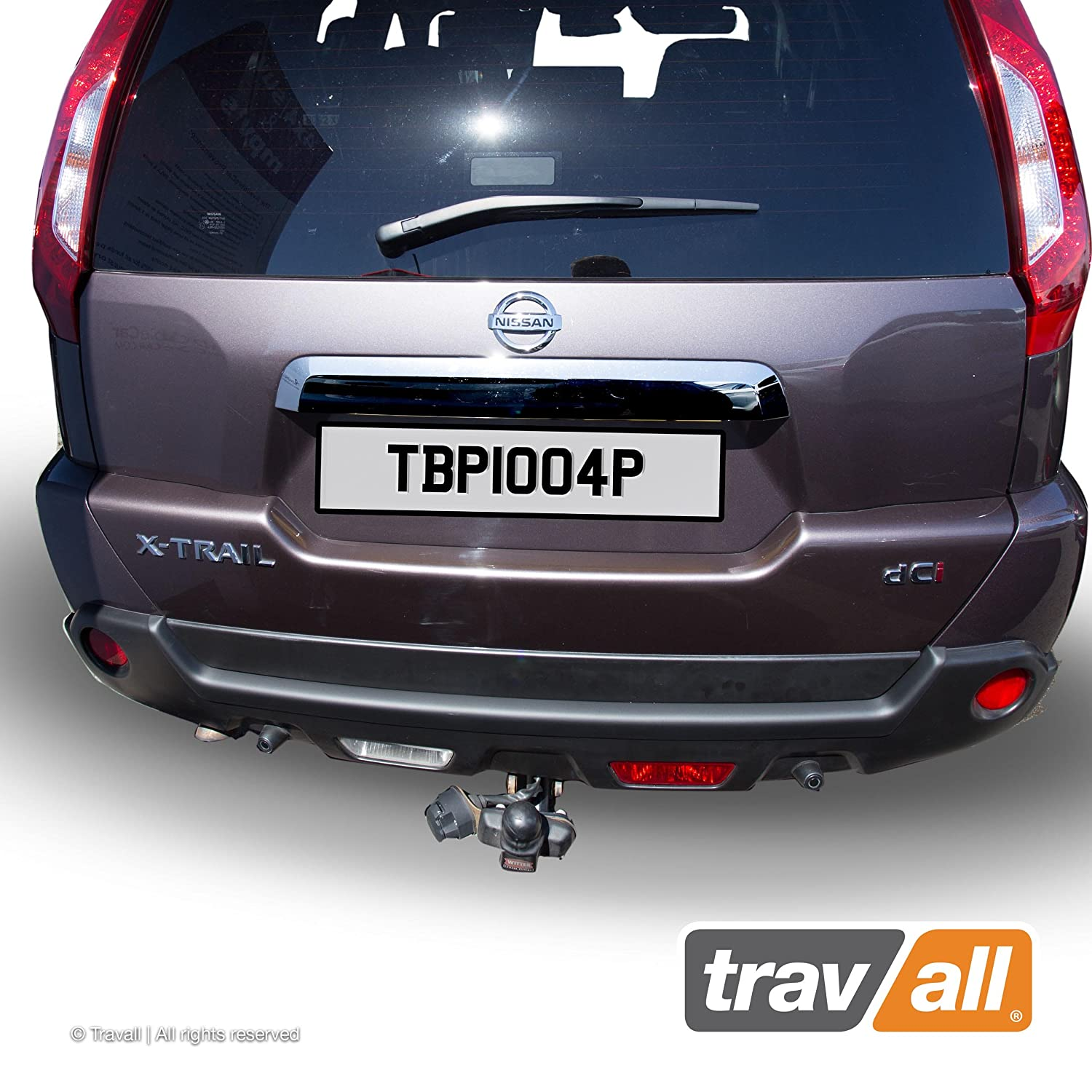 Smooth Travall Protector TBP1004P Vehicle-Specific Black Plastic Moulded Rear Bumper Protector