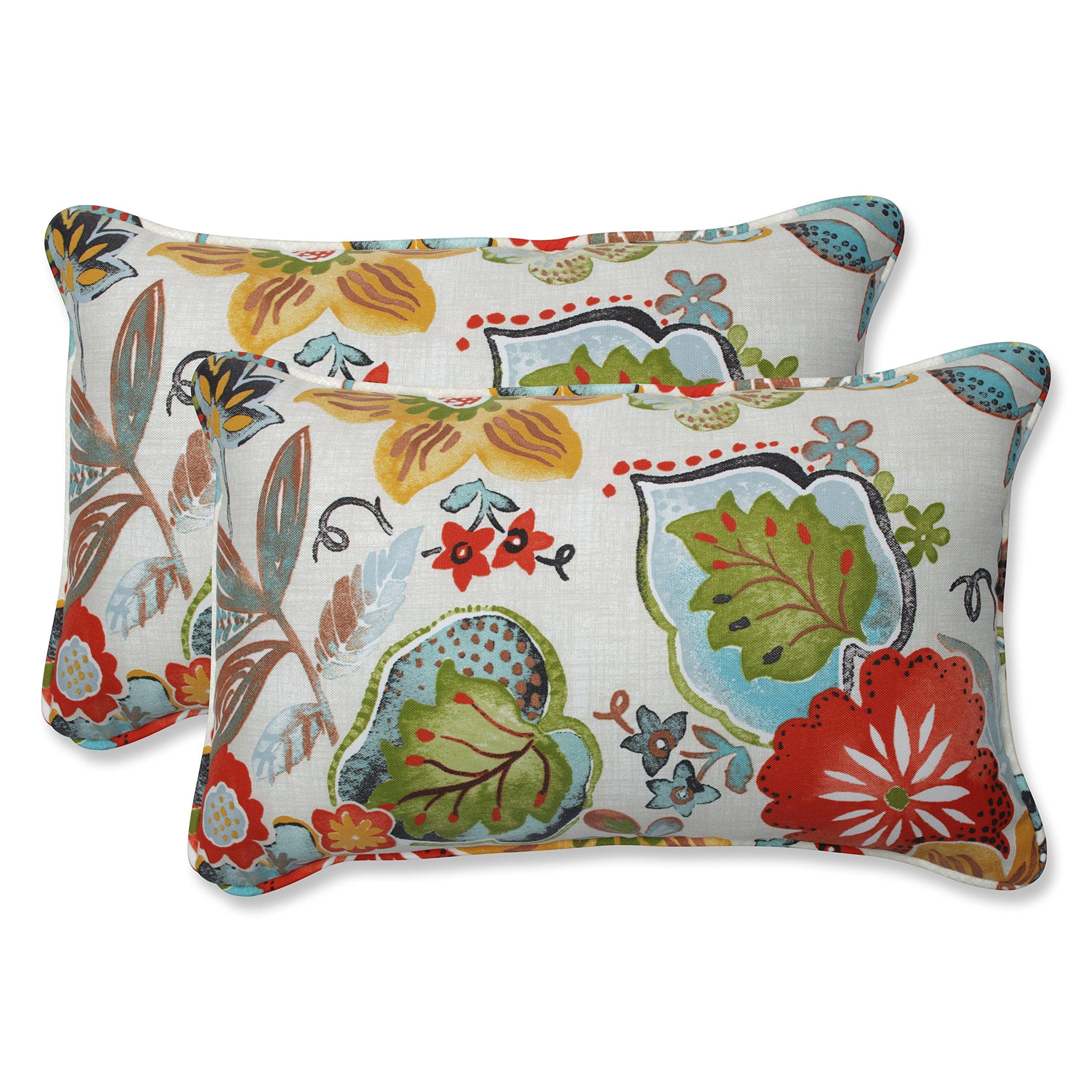 Pillow Perfect Outdoor | Indoor Alatriste Ivory Rectangular Throw Pillow (Set of 2 2 Piece