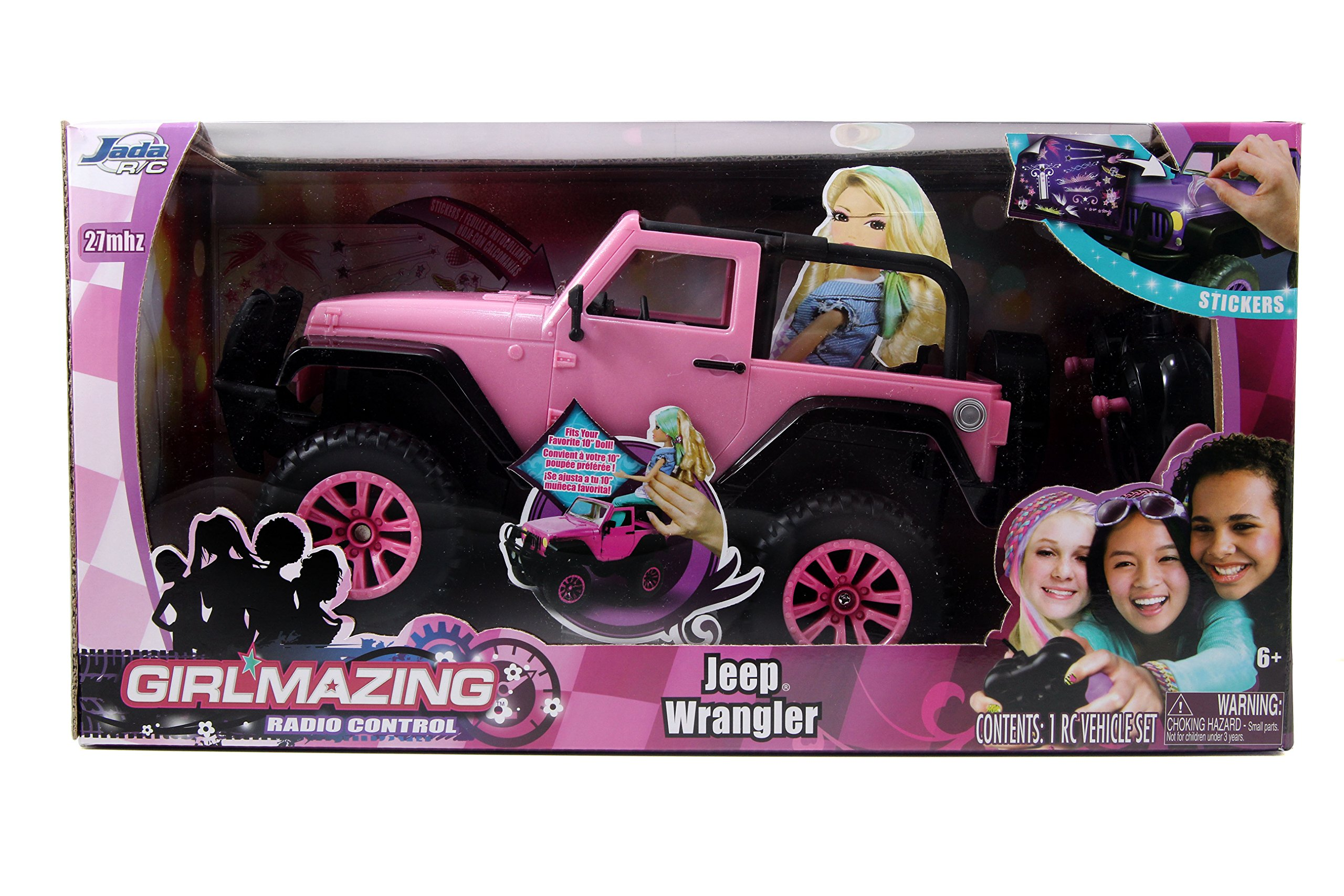 Jada Toys Girlmazing Big Foot Jeep R/C Vehicle (1:16 Scale) Pink 8