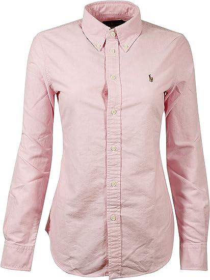 Polo Ralph Lauren Camisa Con Botones Para Mujer Ajuste Clásico New Rose S Mx Ropa Zapatos Y Accesorios