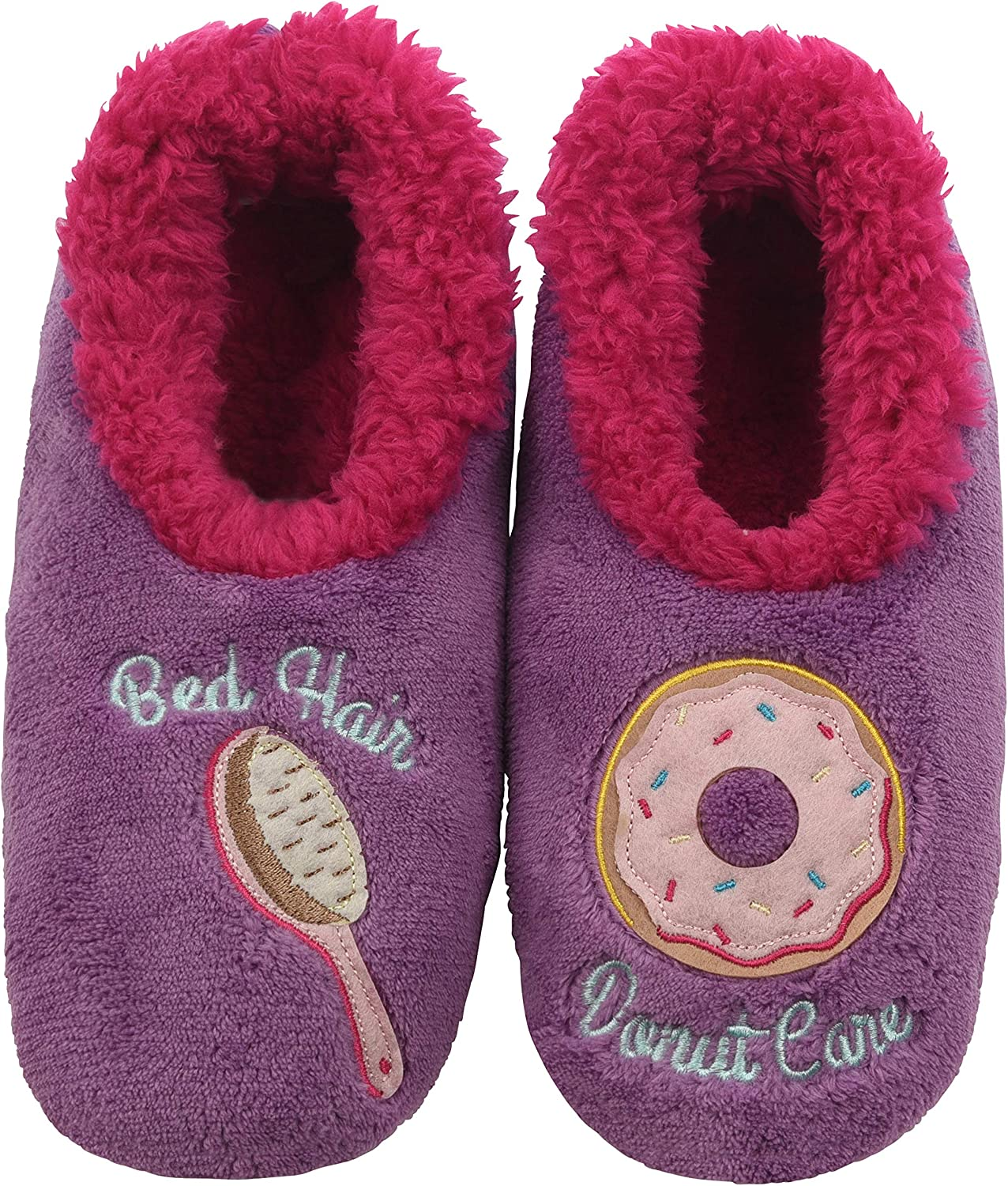Snoozies Pairables Womens Slippers - House Slippers - Bed Hair/Donut Care