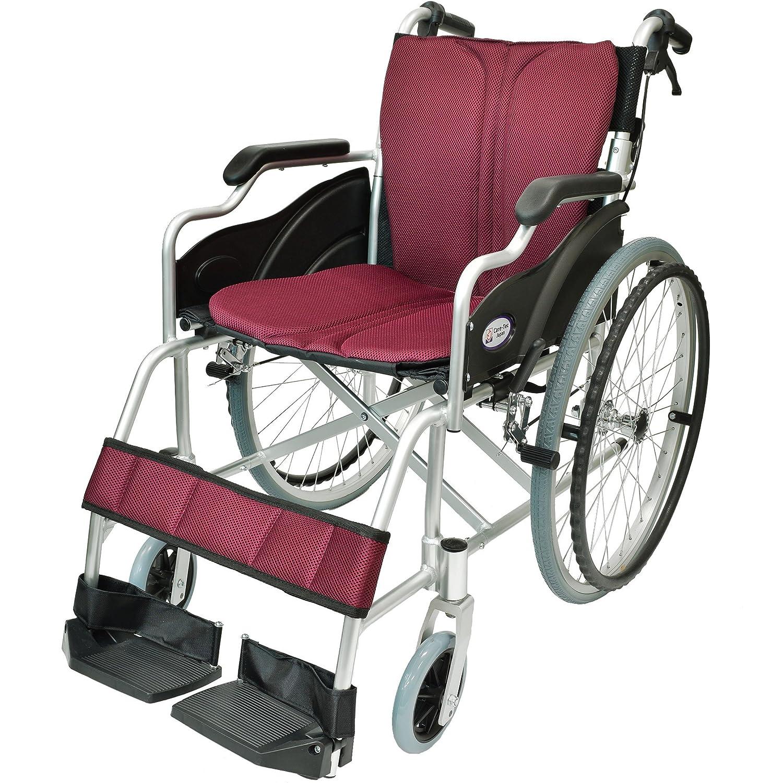 ケアテックジャパン 自走式 アルミ製 折りたたみ 車椅子 ハピネス ワインレッド CA-10SU B00S0OANLO 10 ワインレッド(小豆色) 10 ワインレッド(小豆色)