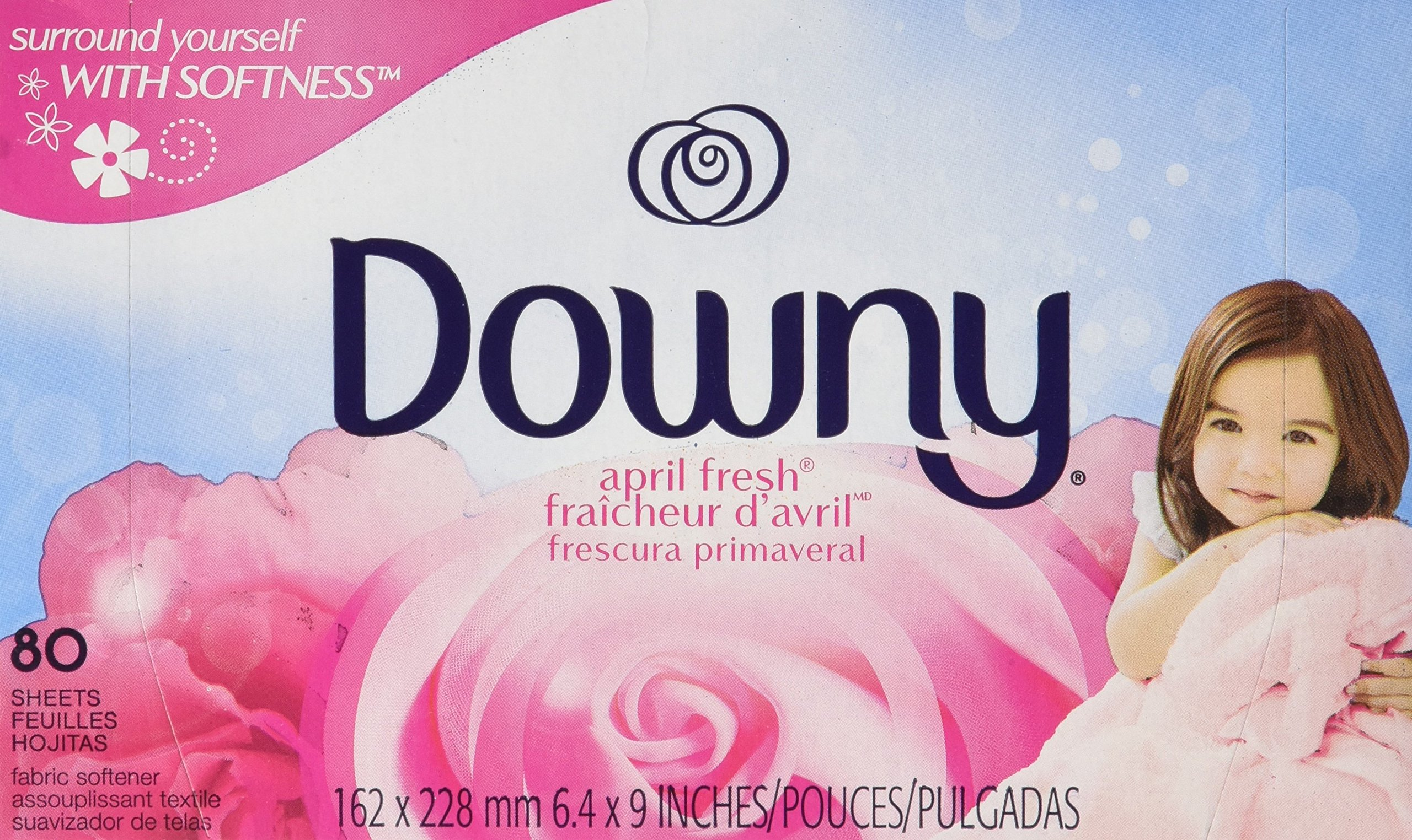 Downy Fabric Softener Dryer Sheets, April Fresh Scent, 80 Count