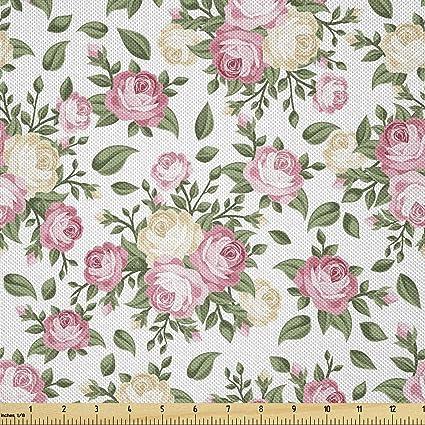 2 yards Green flower fabric