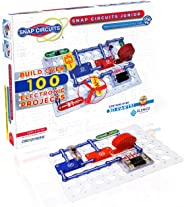 Snap Circuits Jr. SC-100 Electronics Exploration Kit, Kids Building Projects Kits, Stem Engineering Toys for Kids 8+