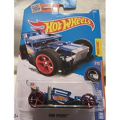 Hot Wheels 2016 HW Race Team Bone Speeder 7/250, Blue: Toys & Games