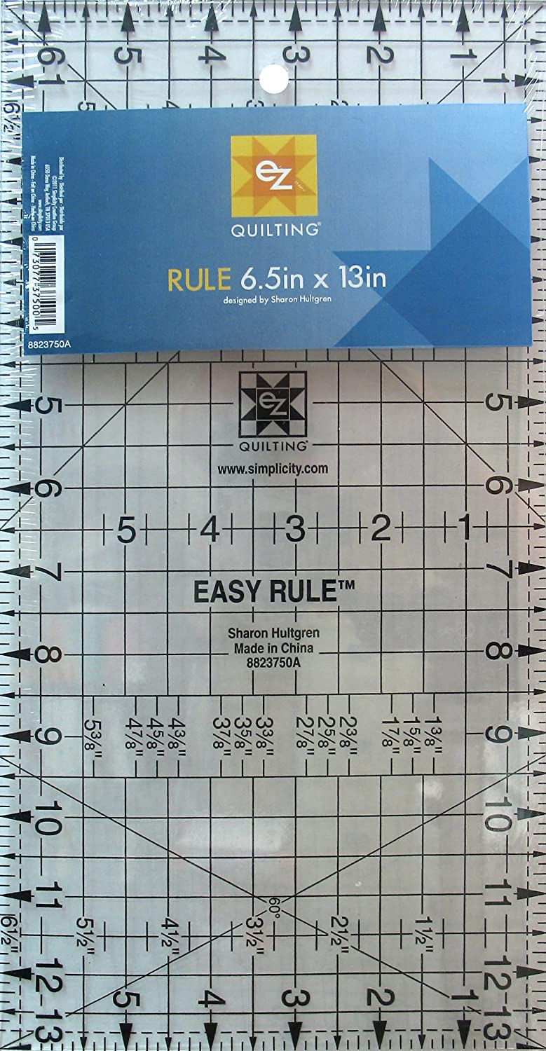 EZ Quilting 6.5 x 13-inch Rule Acrylic Template Simplicity 8823750