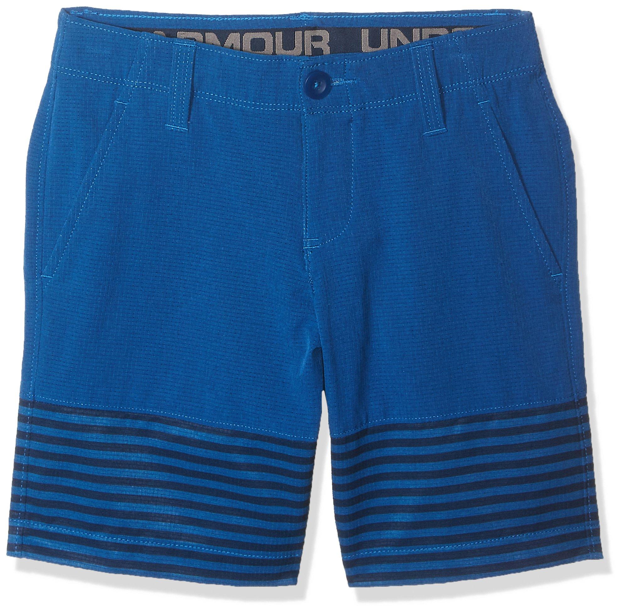 Under Armour Boys Mp Vented Nov Shorts, Moroccan Blue (487)/Moroccan Blue, 14 by Under Armour