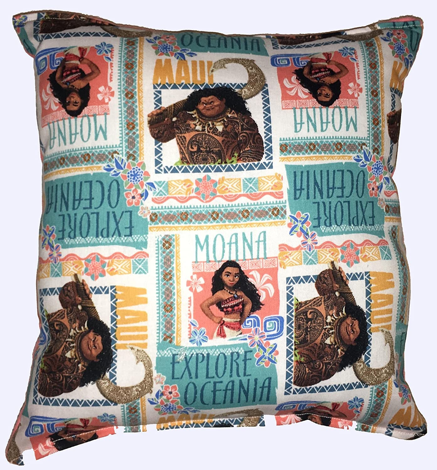 "Moana Pillow Disney's MAUI & MOANA Pillow HANDMADE In USA Pillow is approximately 10"" X 11"