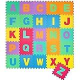 Puzzle goma EVA de 26 piezas | Alfombra infantil puzzle de letras | Alfombra puzle (26 piezas) | Alfombra goma para bebé | Alfombra bebe | Alfombra puzzle de letras