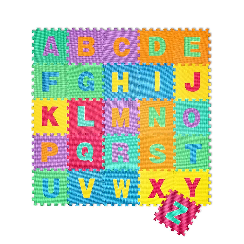 Kinder-Garten EVA Buchstaben Alphabet Puzzlemate Spielteppich Spielmmatte Schaumstoffmatte 26 Matten Puzzlematte EVA