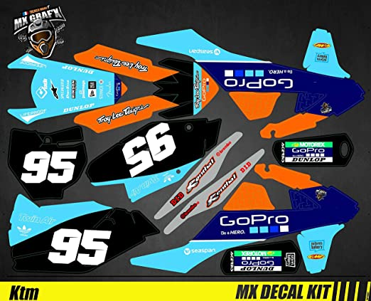 Kit D/éco Moto//MX Decal Kit for KTM Sx SxF GoPro Edition