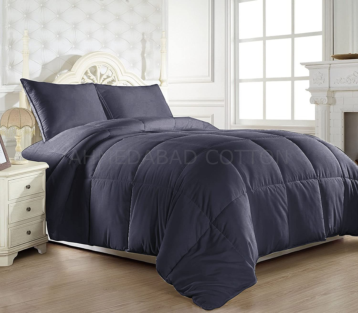 hamilton set comforter tweed dark bedding grey black p