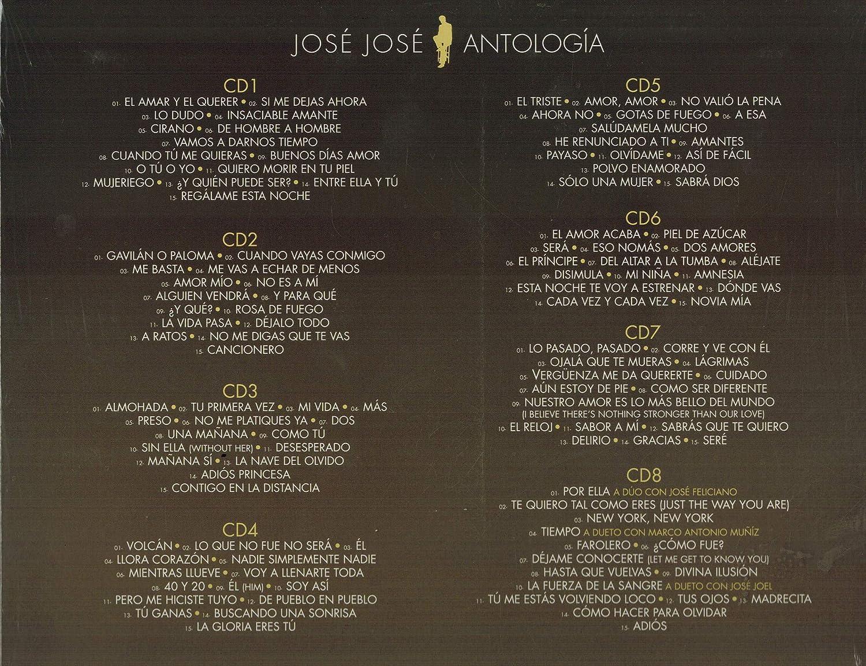 Jose Jose - Jose Jose (Antologia 8 CDs 120 Canciones) Sony-508781 - Amazon.com Music