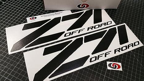 Z71 off road decal chevy fender tailgate sticker 15 custom matte