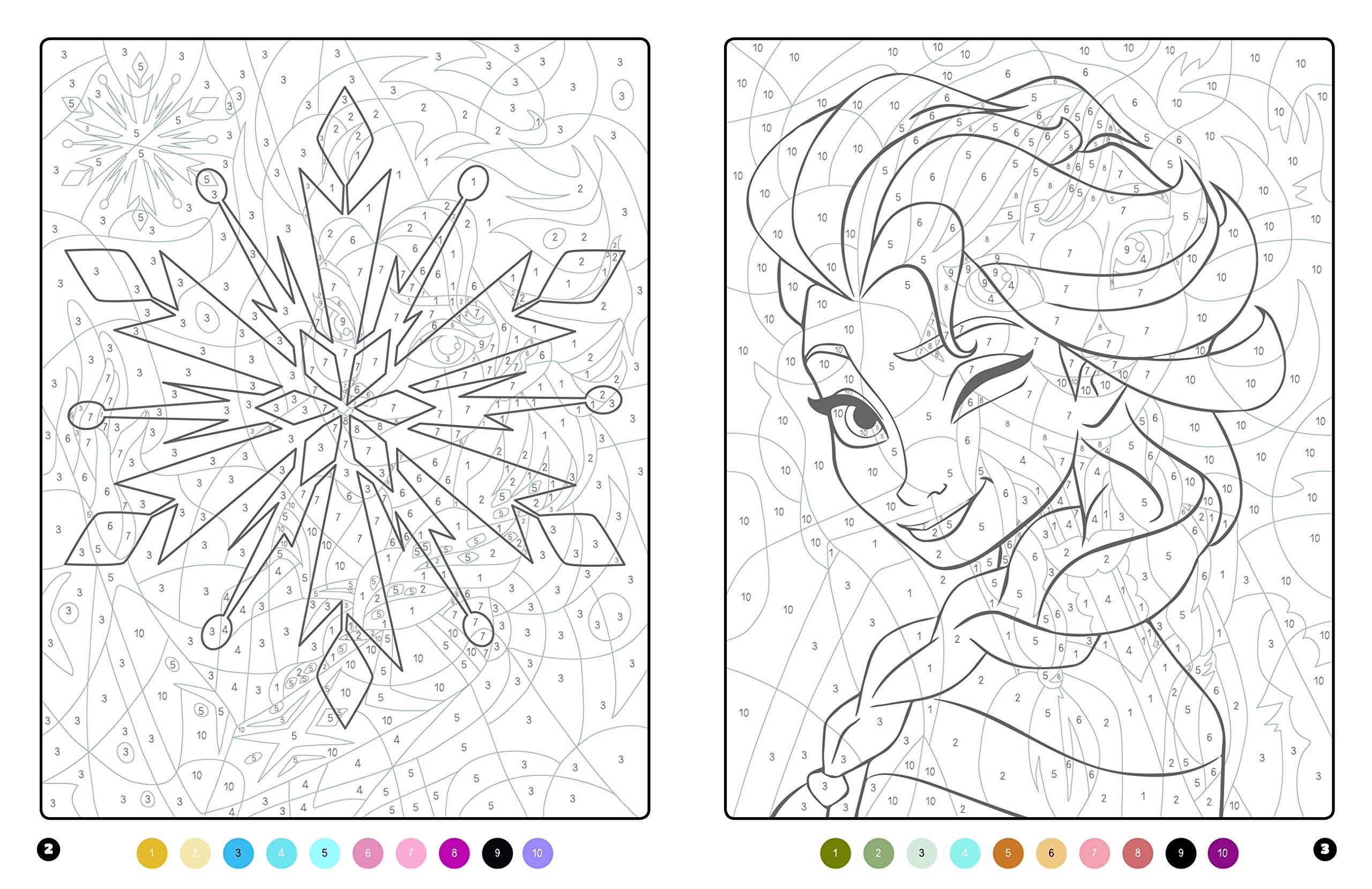 La Reine Des Neiges Coloriages Magiques Trompe L Oeil Disney Amazon Fr Sivignon Capucine Livres