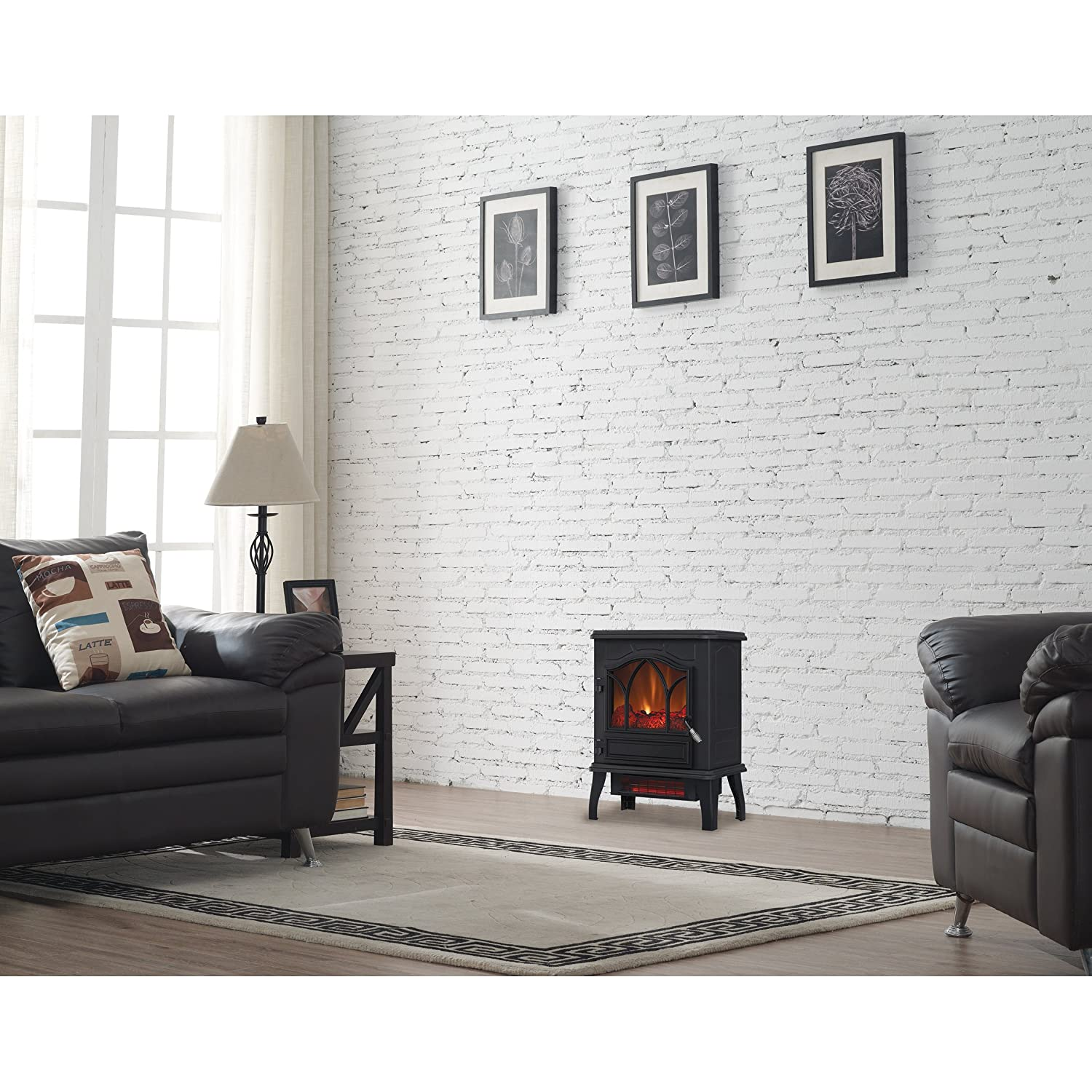 Amazon.com: Electric Quartz Infrared Fireplace Stove Heater with ...