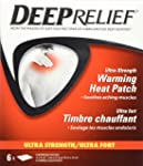 Deep Relief Ultra Strength Neck Shoulder and Back Pain Relief Patch, 6-Count