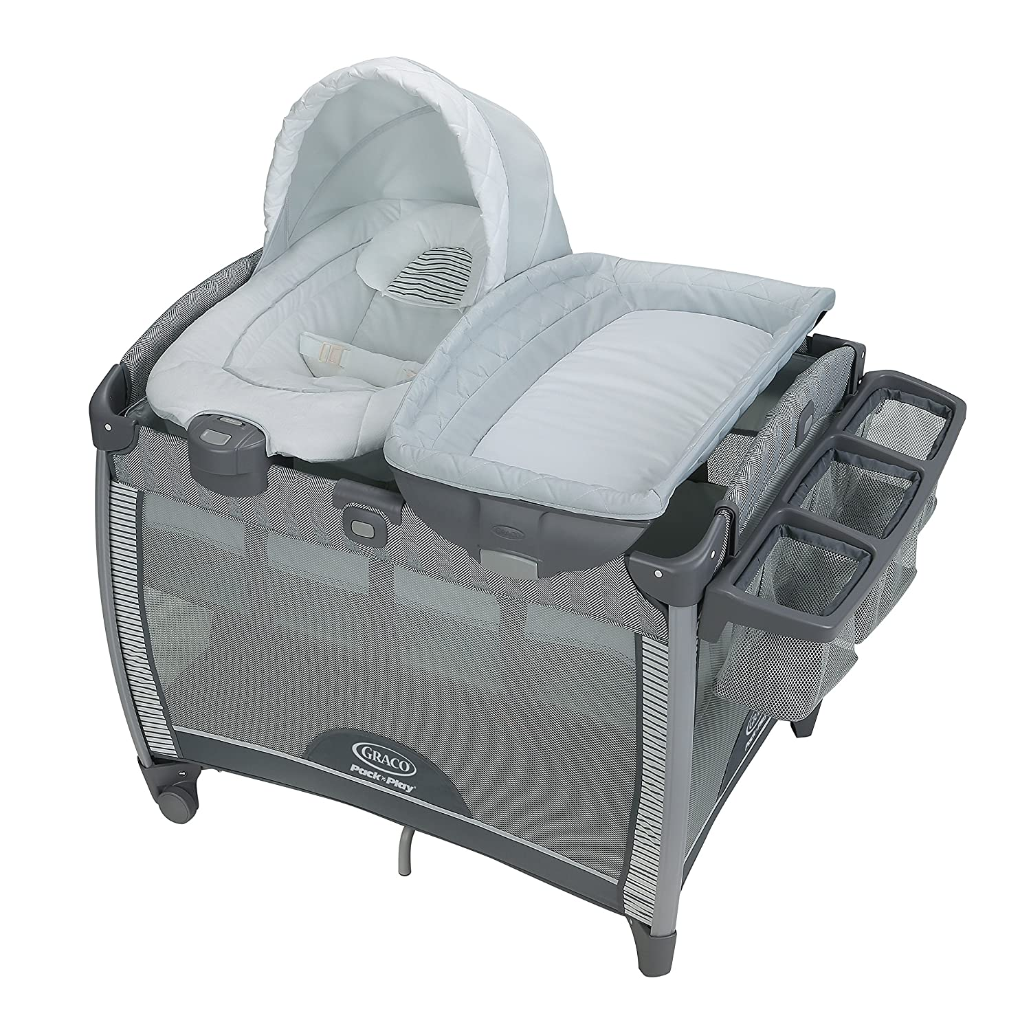 Graco Pack 'n Play Quick Connect Playard and Removable Portable Bouncer, Raleigh Graco Baby 2013696